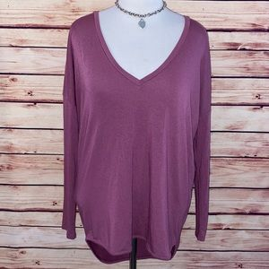 🆕 Express Deep Dusty Rose V Neck Tunic Top